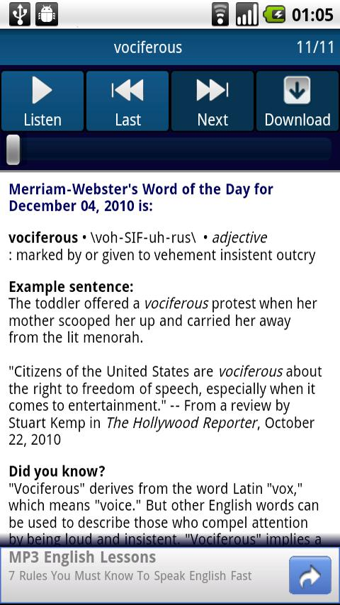 A Word A Day Android Books & Reference