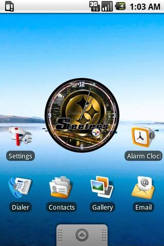 Pittsburgh Steelers Clock Wid. Android Personalization