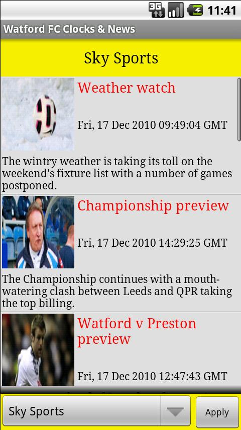 Watford FC Clocks & News Android Sports