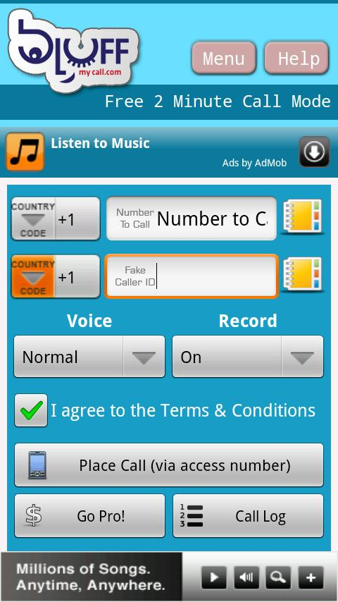 BluffMyCall Mobile Android Entertainment