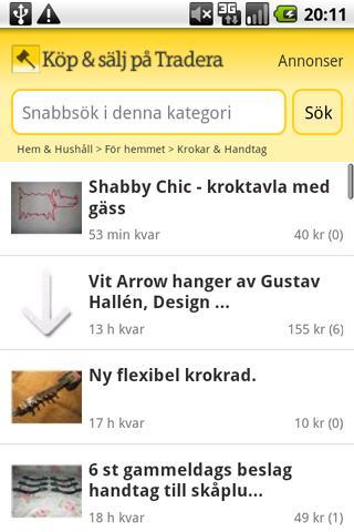 Köp & sälj på Tradera Android Shopping
