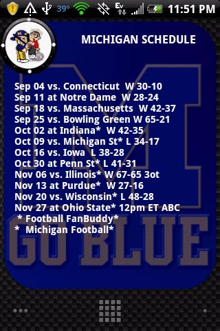 Michigan Football FanBuddy Android Sports