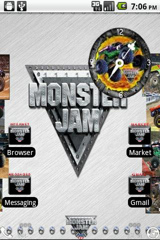 Monster Jam Theme Android Personalization