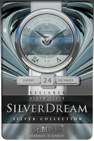 SILVERDREAM clock widget theme Android Lifestyle
