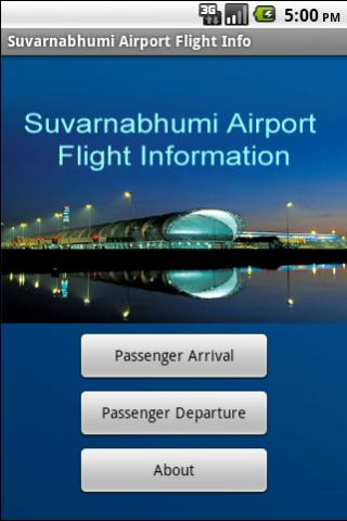 Suvarnabhumi Flight Info Android Travel