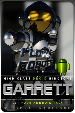GARRETT nametone droid Android Multimedia