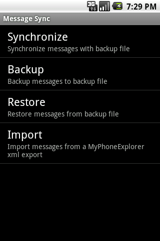 Message Sync Android Tools