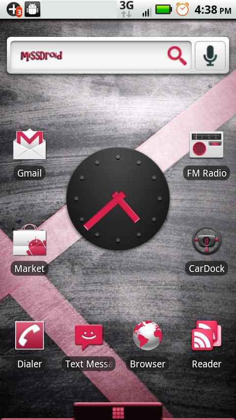 MissDroid X Home Theme Android Themes