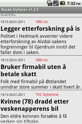 Raske Nyheter fra Norge Android News & Magazines