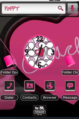 PoppyPinkCOACH Home Theme Android Themes