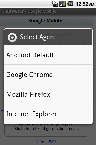 InBrowser – Incognito Browsing Android Communication