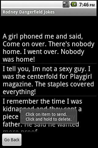 Rodney Dangerfield Jokes paid Android Entertainment