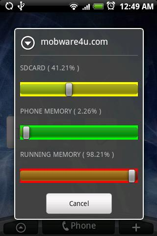 Memory Usage Widget Android Tools