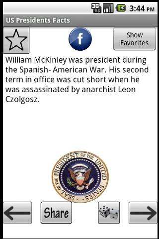US Presidents Facts Ad-Free Android Reference