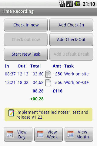 time recording 8211 timesheet app android productivity best