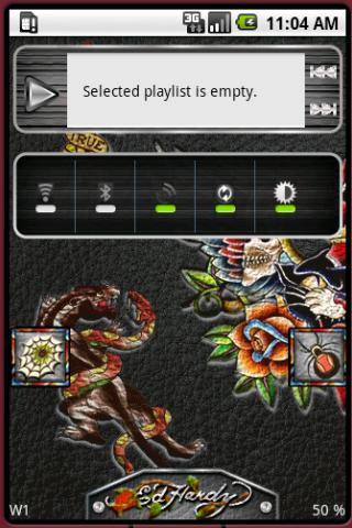 Open Home Skin ED HARDY Android Entertainment