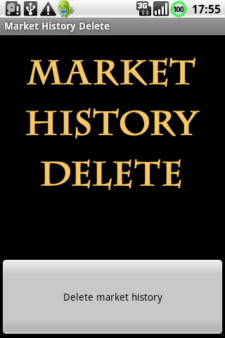 Market History Delete Android Tools