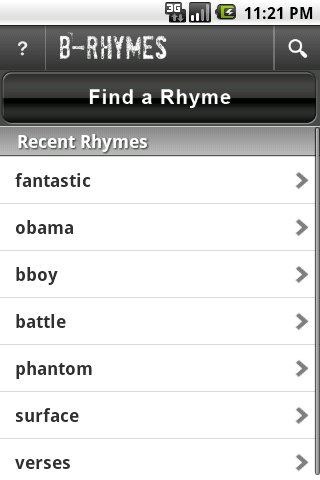 B-Rhymes Dictionary Android Books & Reference