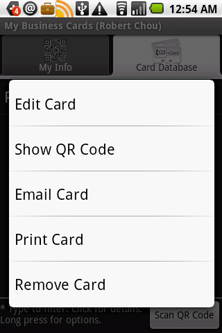 My Business Cards Lite Android Productivity