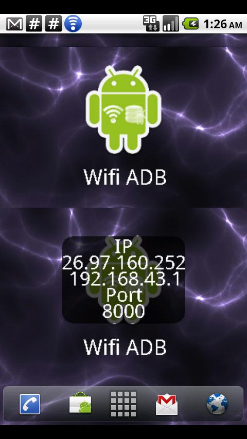 ADB over WIFI Widget Android Tools