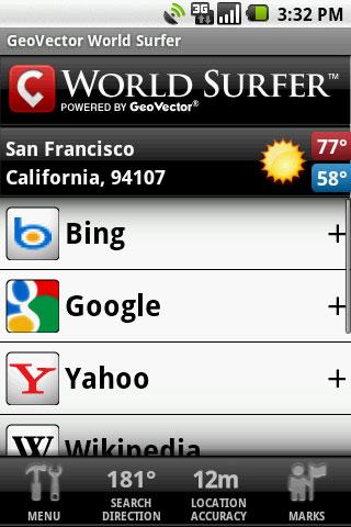 GeoVector World Surfer Android Travel