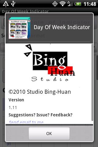 Day of Week Indicator Android Tools
