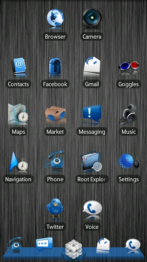 Blue ADW Theme Android Themes