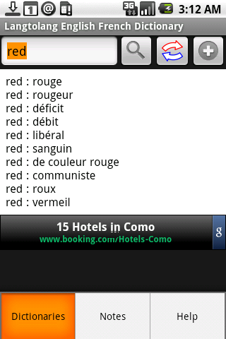 English French Dictionary Android Travel