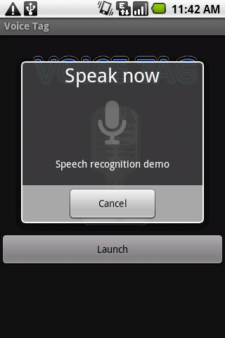 Voice Tag Android Demo