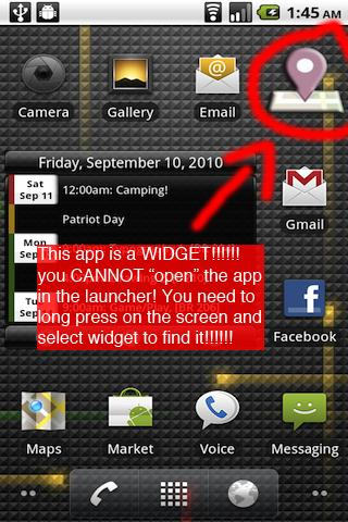 Facebook Places Checkin WIDGET Android Social