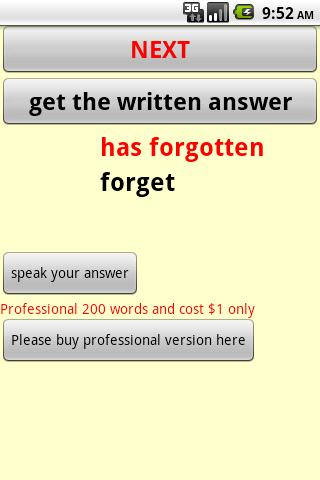 Past Participle English Android Travel