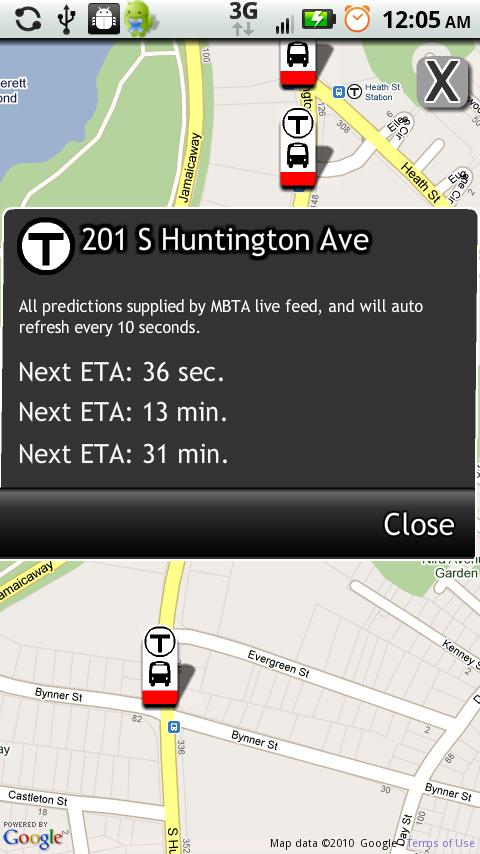 Boston Bus Tracker Android Travel