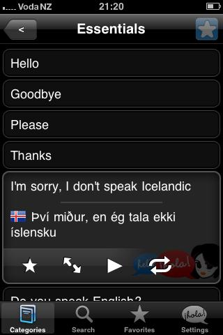 Lingopal Icelandic Lite Android Travel