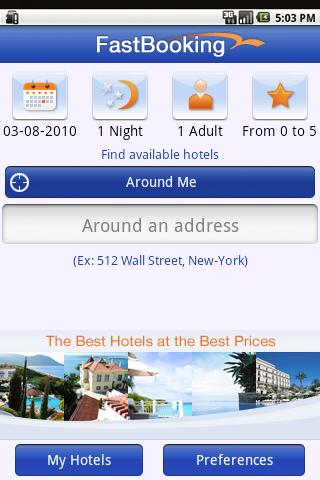 FastBooking Android Travel