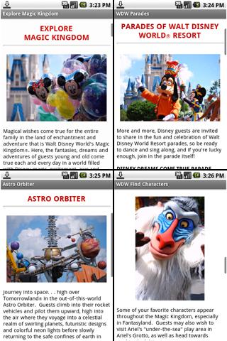 Walt Disney World Notescast Android Travel