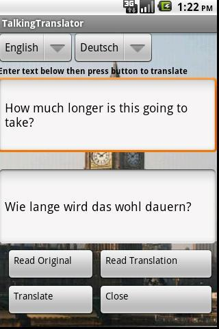 Talking Translator Android Travel