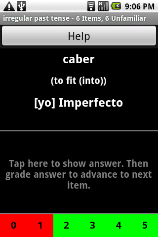 Spanish Verb Trainer Pro Android Education
