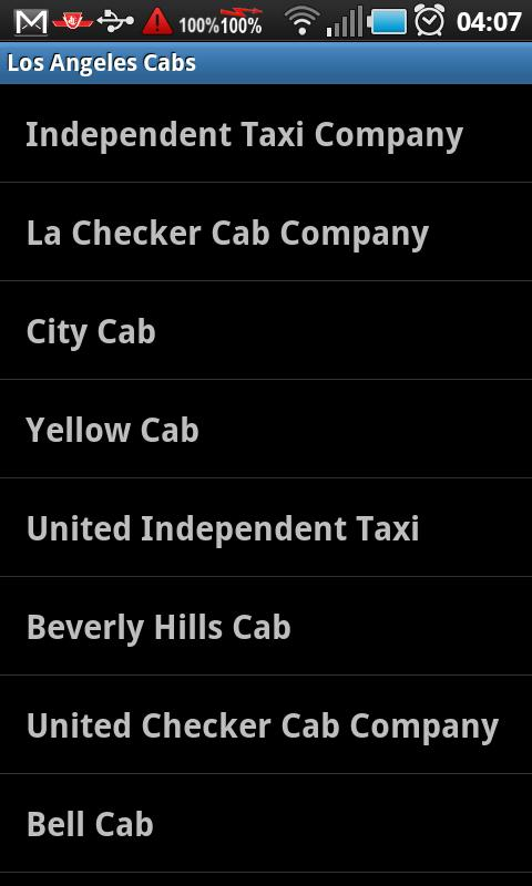 EzTaxi Los Angeles Android Travel & Local