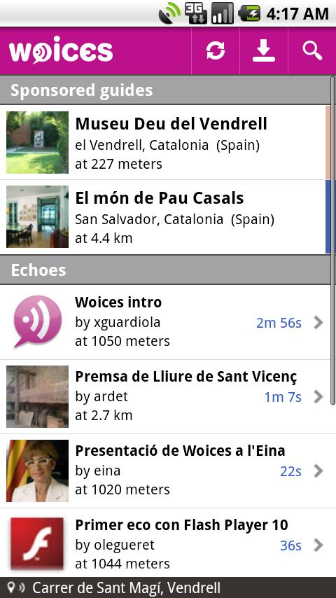 Woices Android Travel & Local