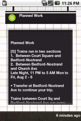 NYC Subway Status Android Travel