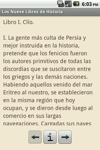 Los Nueve Libros de Historia Android Reference