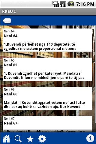 Constitution of Albania Android Reference