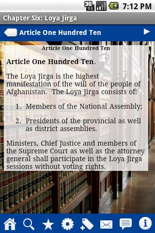 Constitution of Afghanistan Android Reference