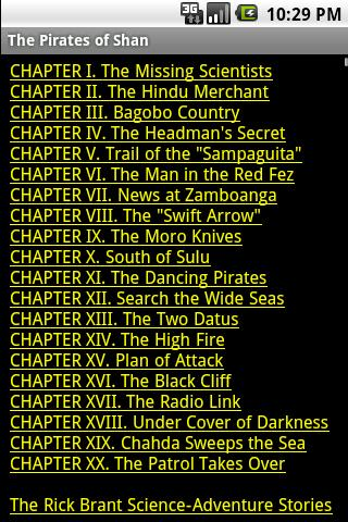 The Pirates of Shan Android Reference