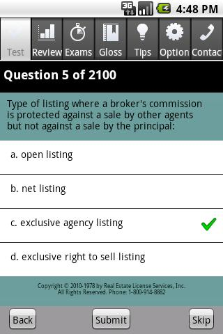 Real Estate Broker Exam Pro Android Reference