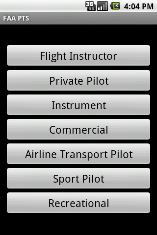 FAA Practical Test Standards Android Reference