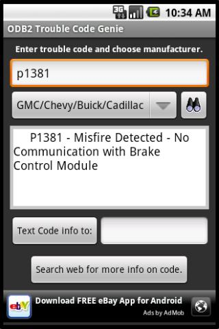 ODB2 Trouble Code Genie – Free Android Reference