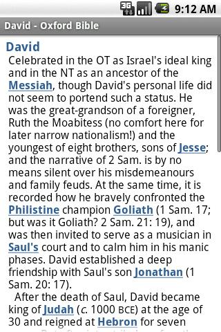 Oxford Dictionary of the Bible Android Reference