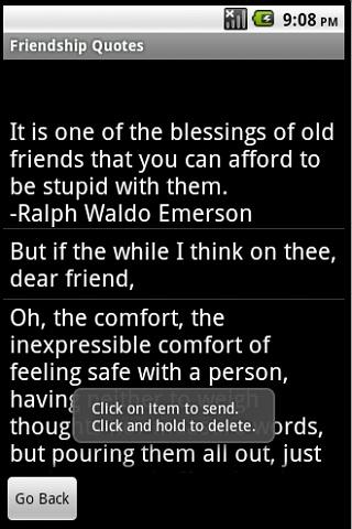 Friendship Quotes Android Reference