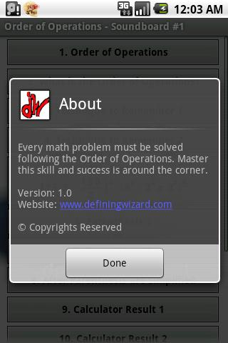 Math Tutoring Lessons 1 Android Reference